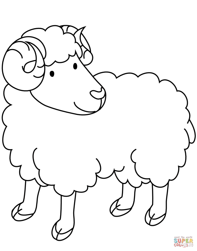 Ram coloring page  Free Printable Coloring Pages