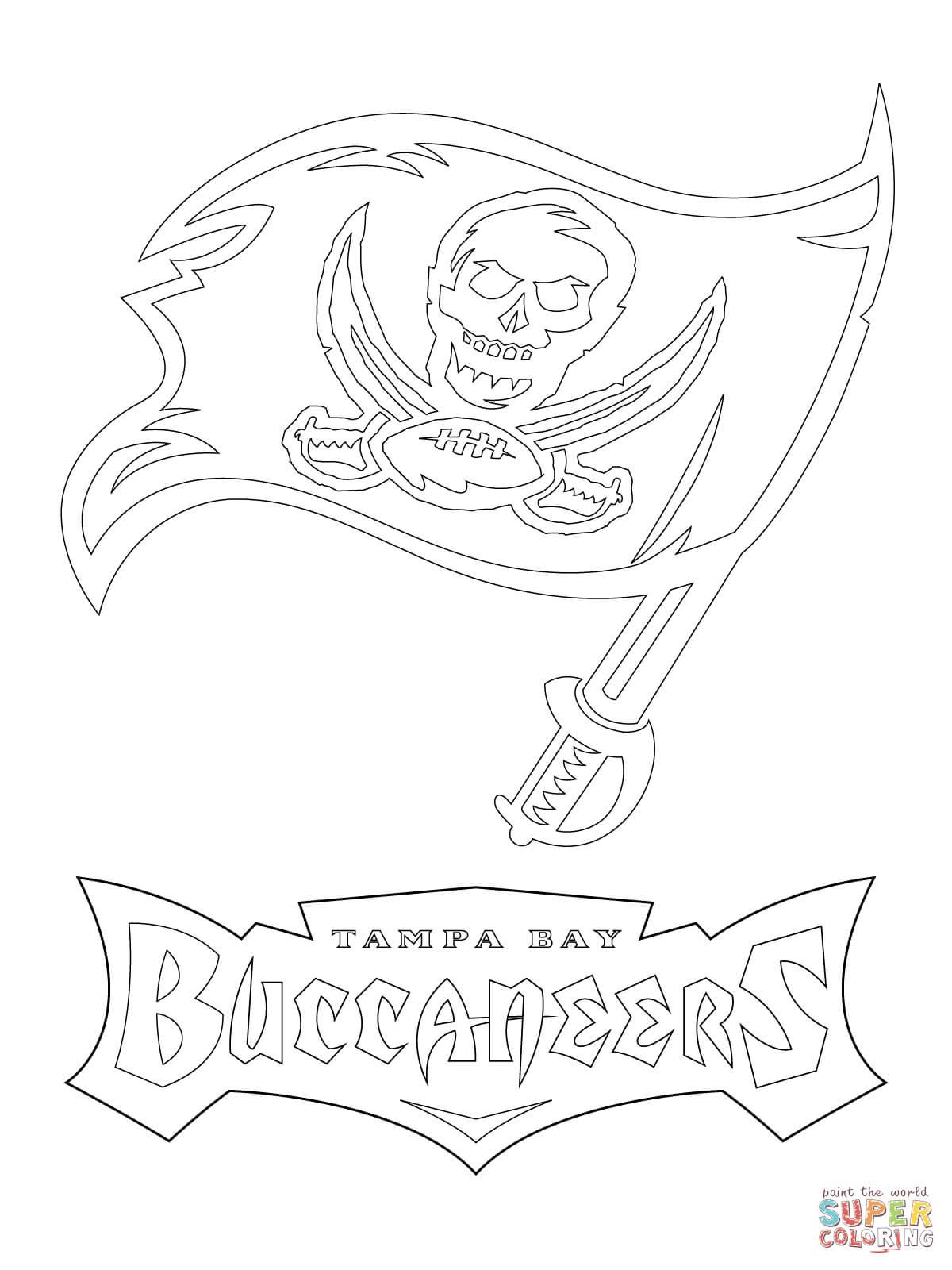 Ausmalbild Logo Der Tampa Bay Buccaneers