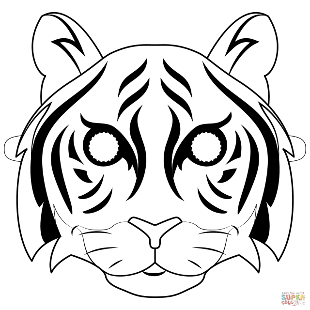 Tiger Mask coloring page  Free Printable Coloring Pages