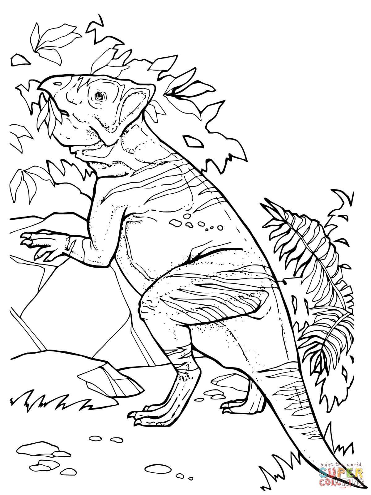 Leptoceratops Ceratopsian Dinosaurs Coloring Page