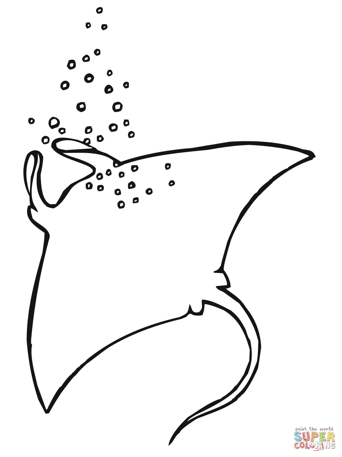 Two Manta Rays Coloring Page Free Printable Coloring Pages