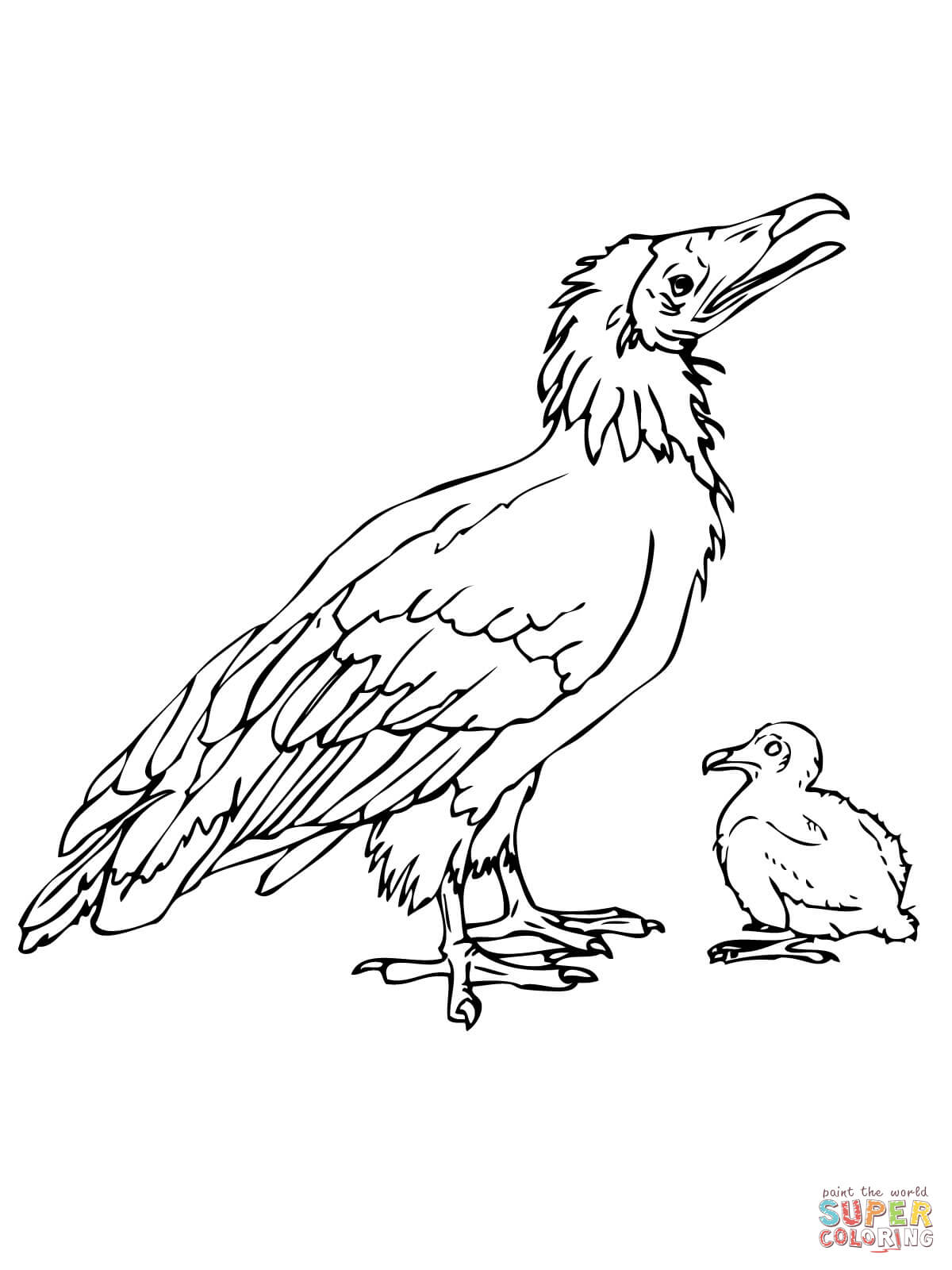 Dodo Bird With Chick Coloring Page