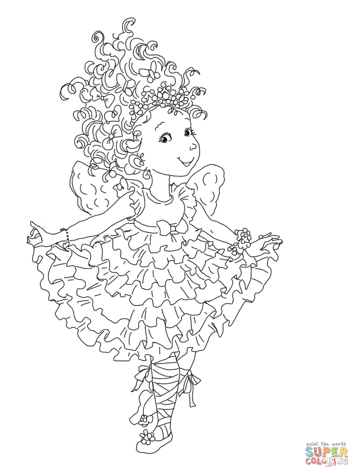 Fancy Nancy Curtseying Coloring Page