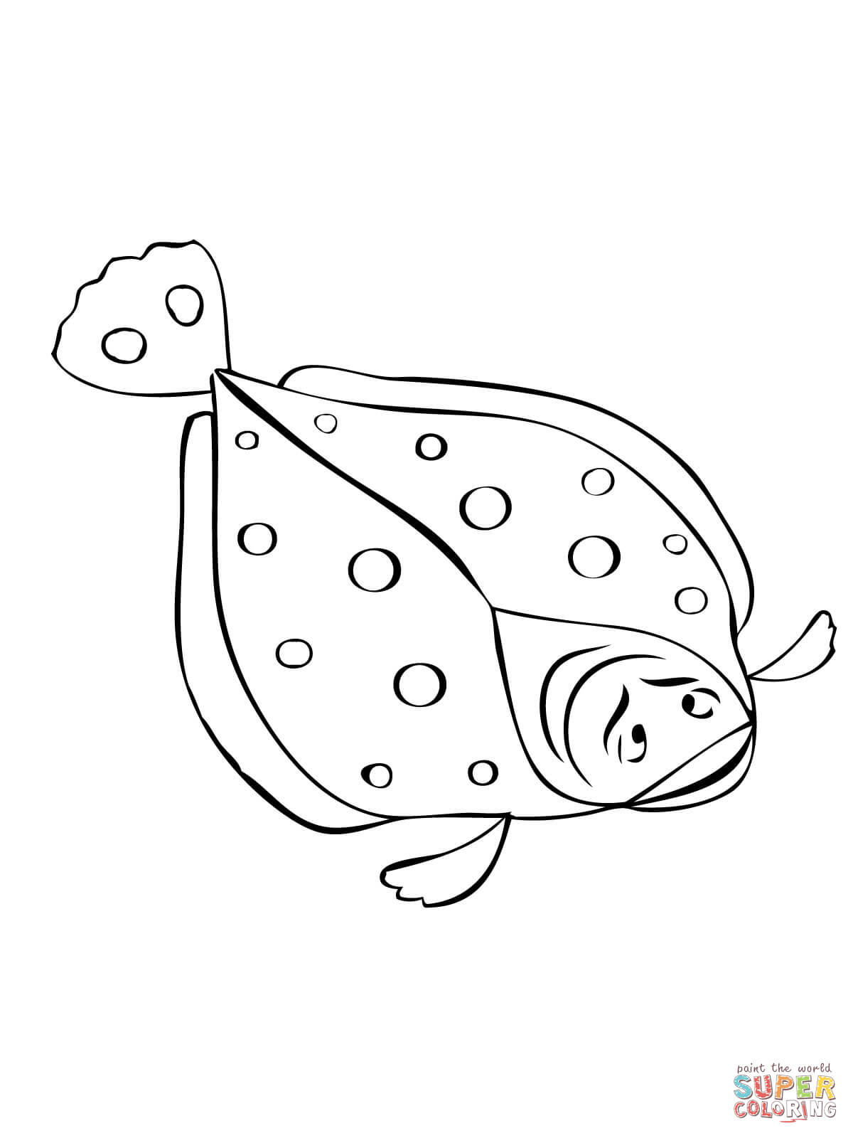 Flounder Fish Coloring Page
