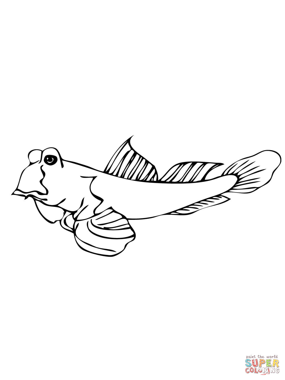 Mudskipper Fish Coloring Page Free Printable Coloring Pages