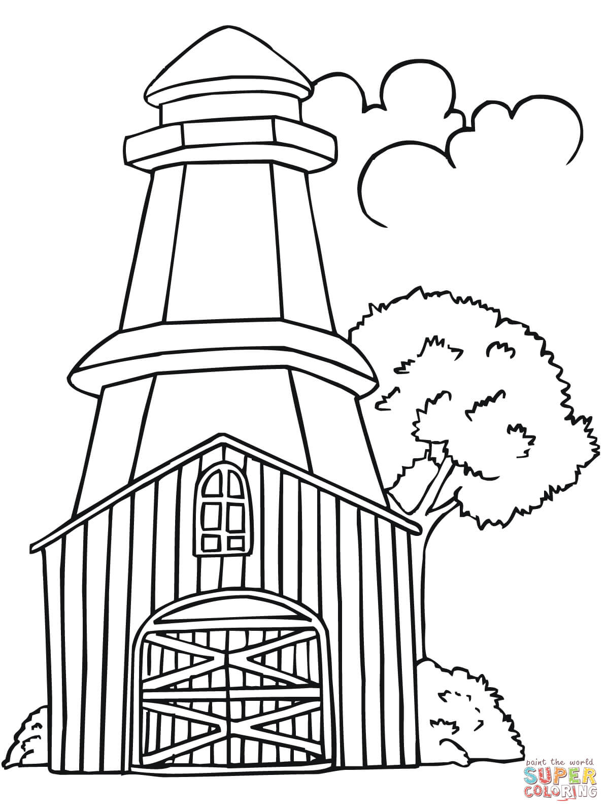 Sweden Lighthouse Coloring Page