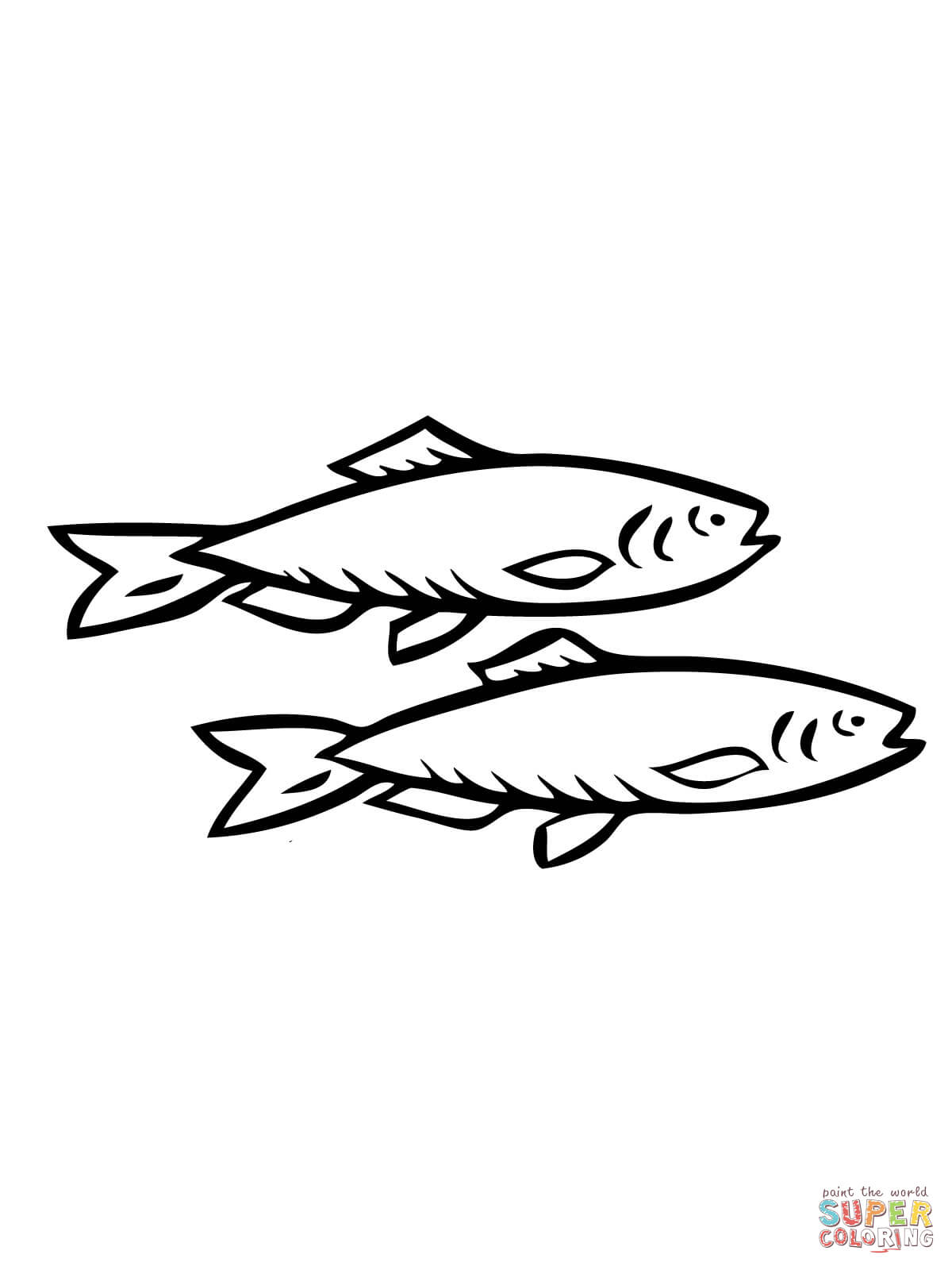 Two Herring Fishes Coloring Page Free Printable Coloring Pages