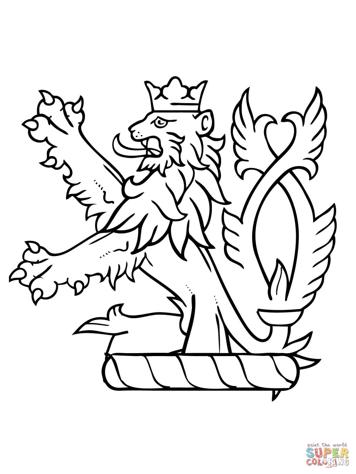 Lion Rampant Of Scotland Coloring Page