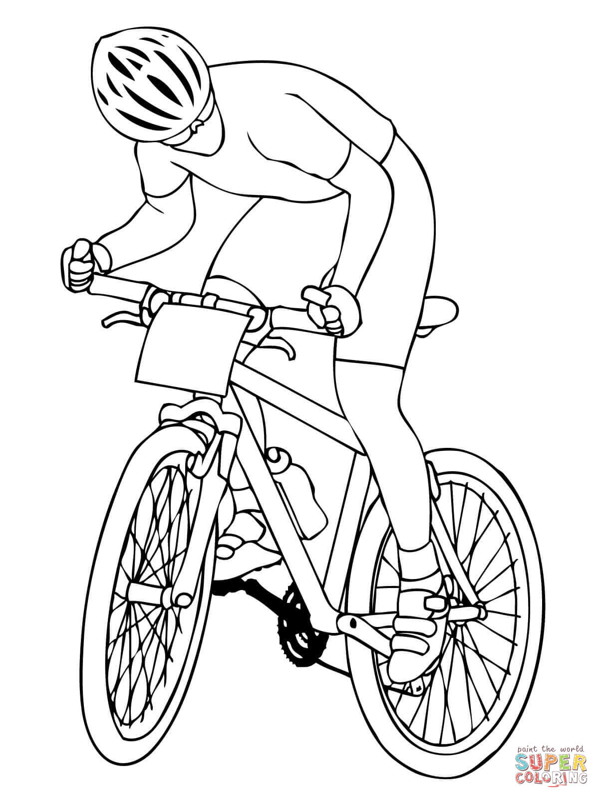 Mountain Biker Coloring Page