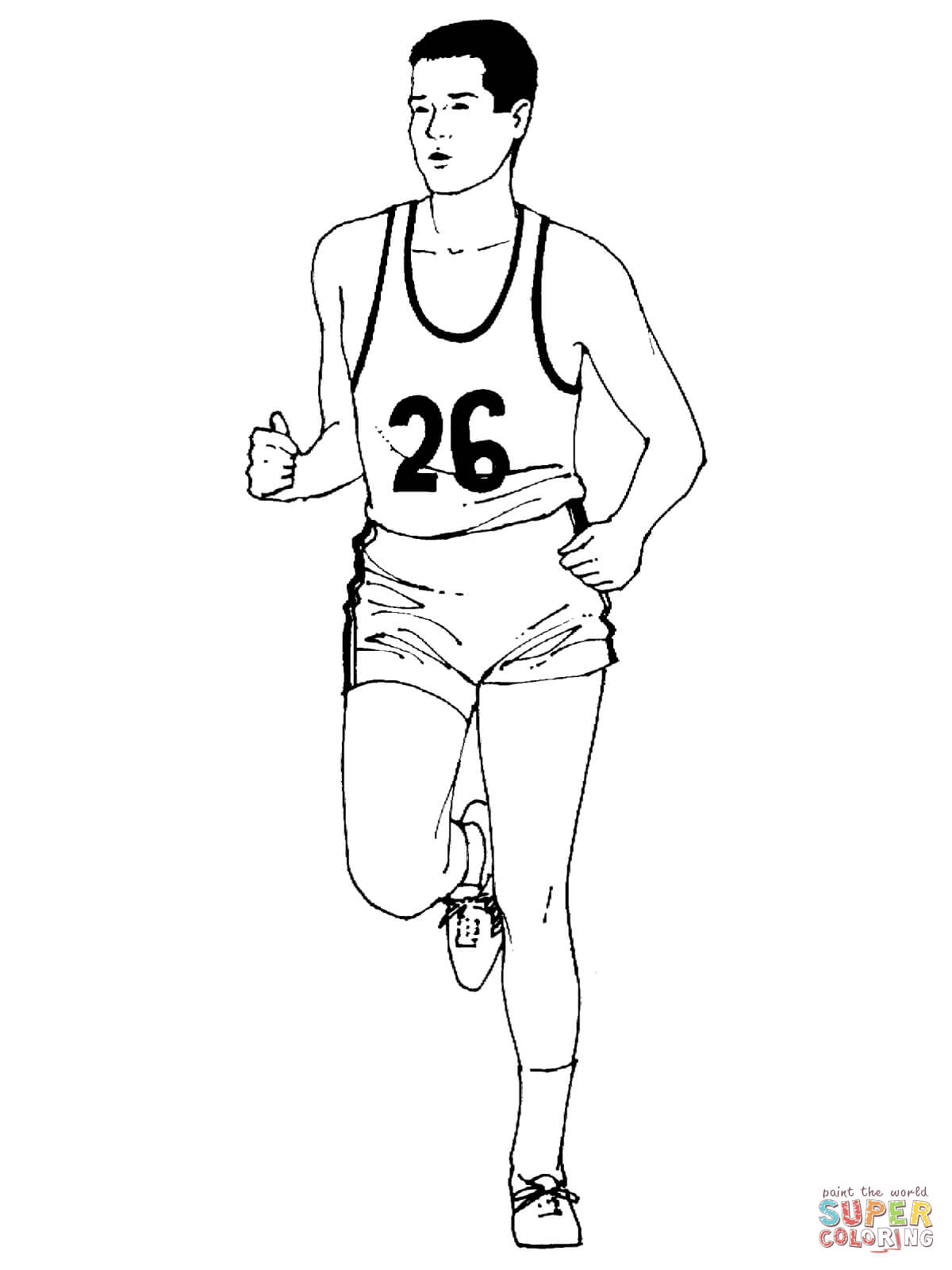 Running A Marathon Coloring Page
