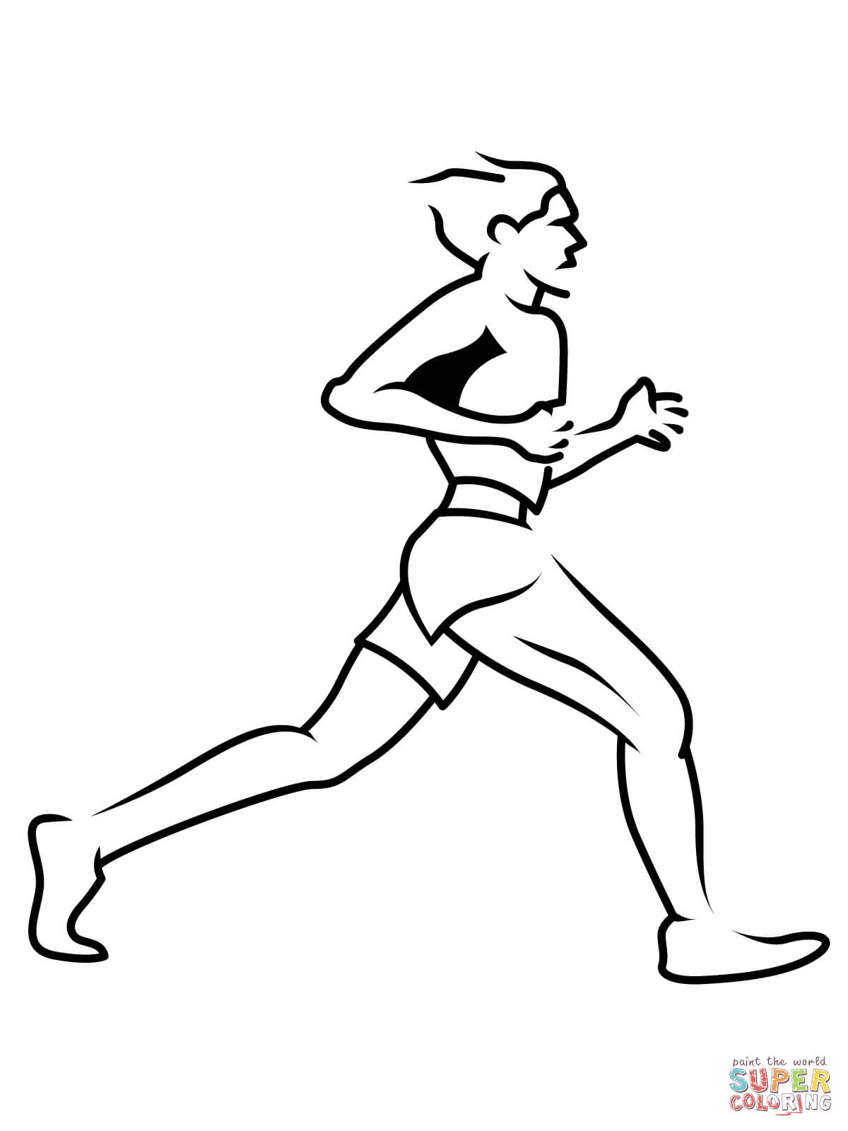 Short Runner Coloring Page