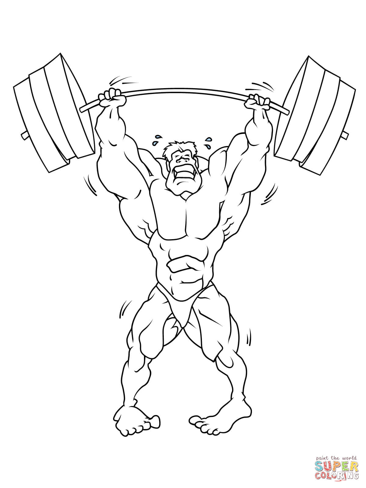 Strong Weightlifter Coloring Page