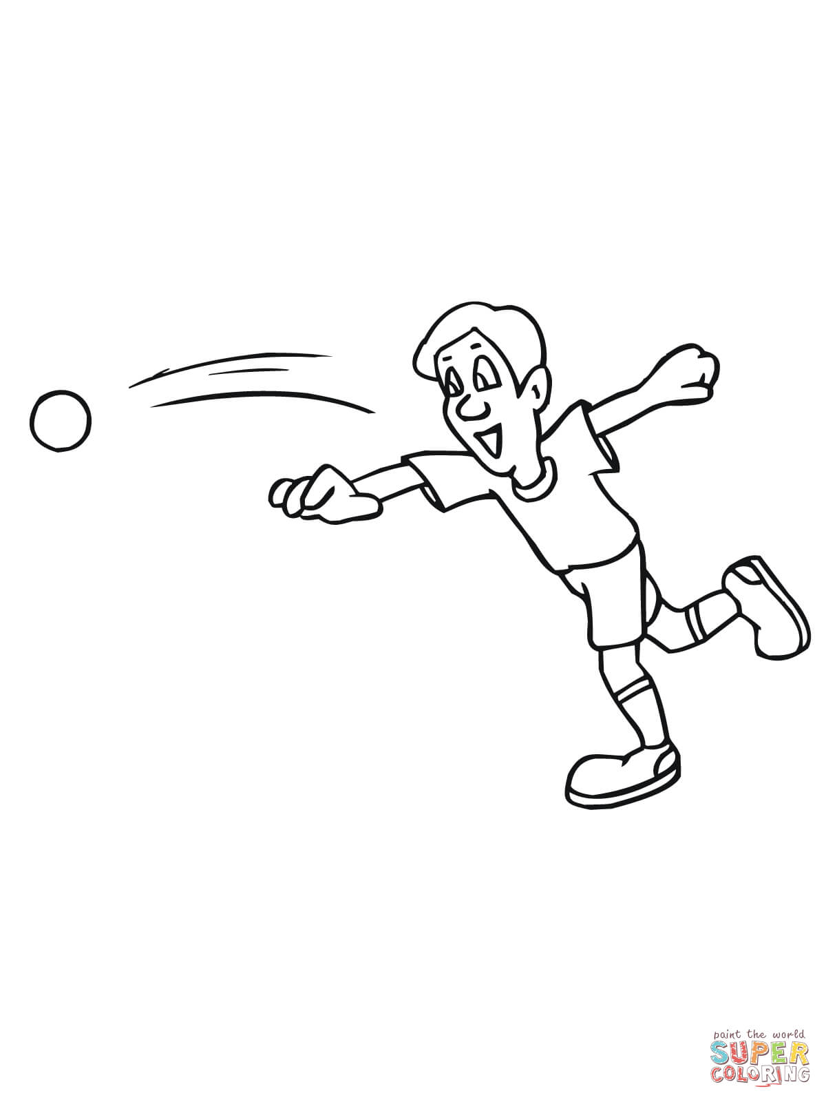 Throwing A Shot Coloring Page