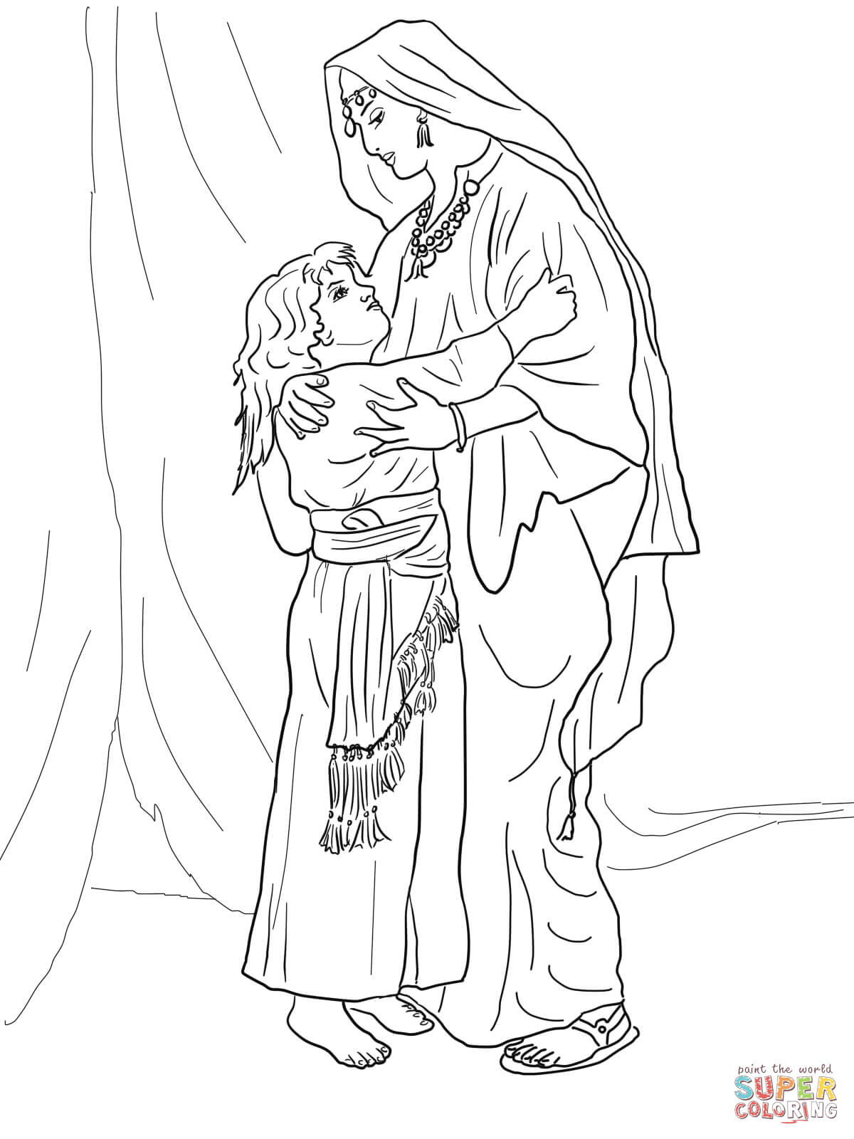 Hannah And Samuel Coloring Page
