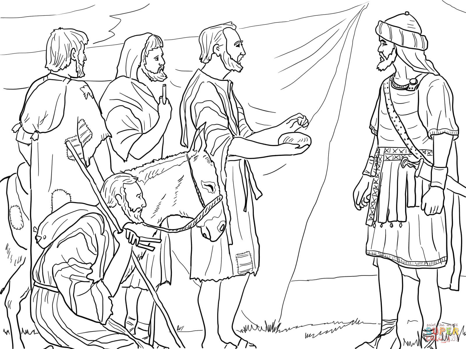 Gibeonites Trick Joshua Coloring Page