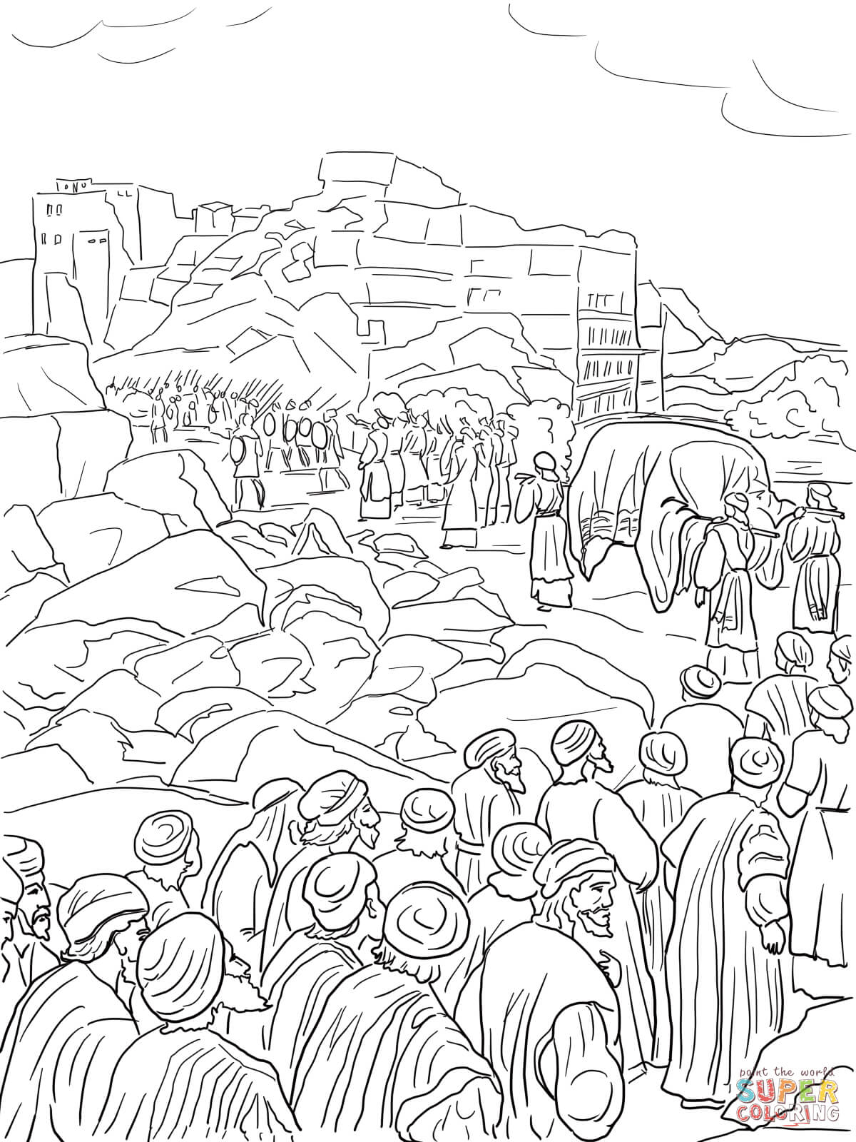Joshua Capture Of Jericho Coloring Page