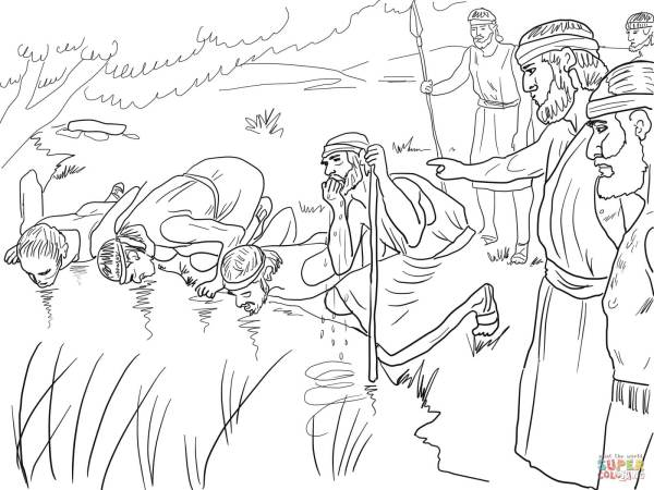 gideon coloring pages # 6