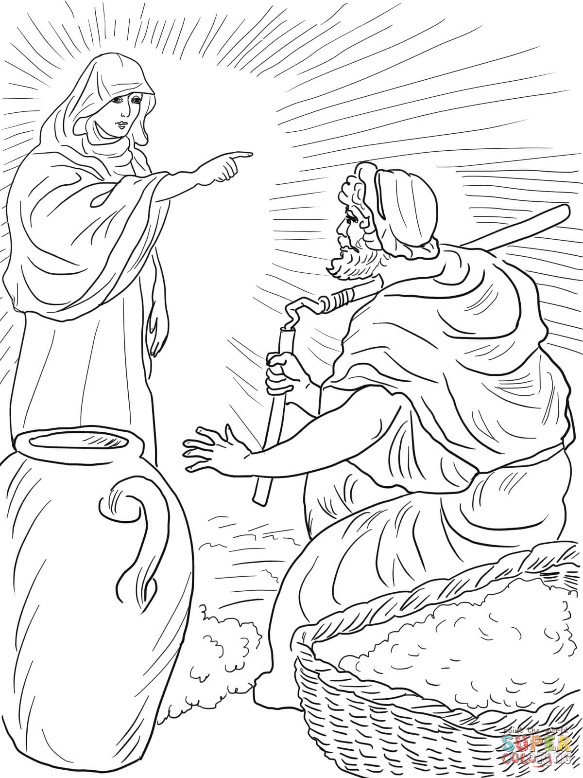 God S Angel Called Gideon Coloring Page