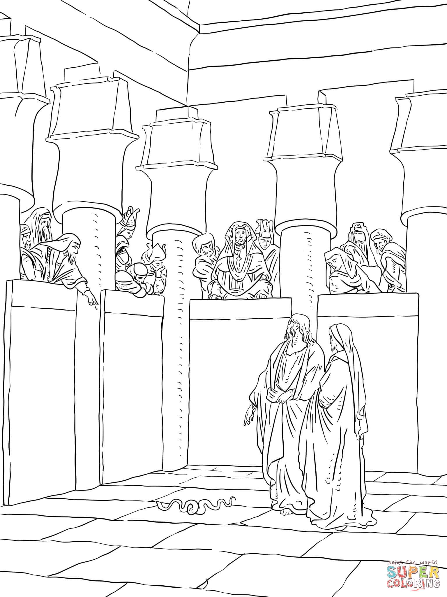 Ausmalbild Mose