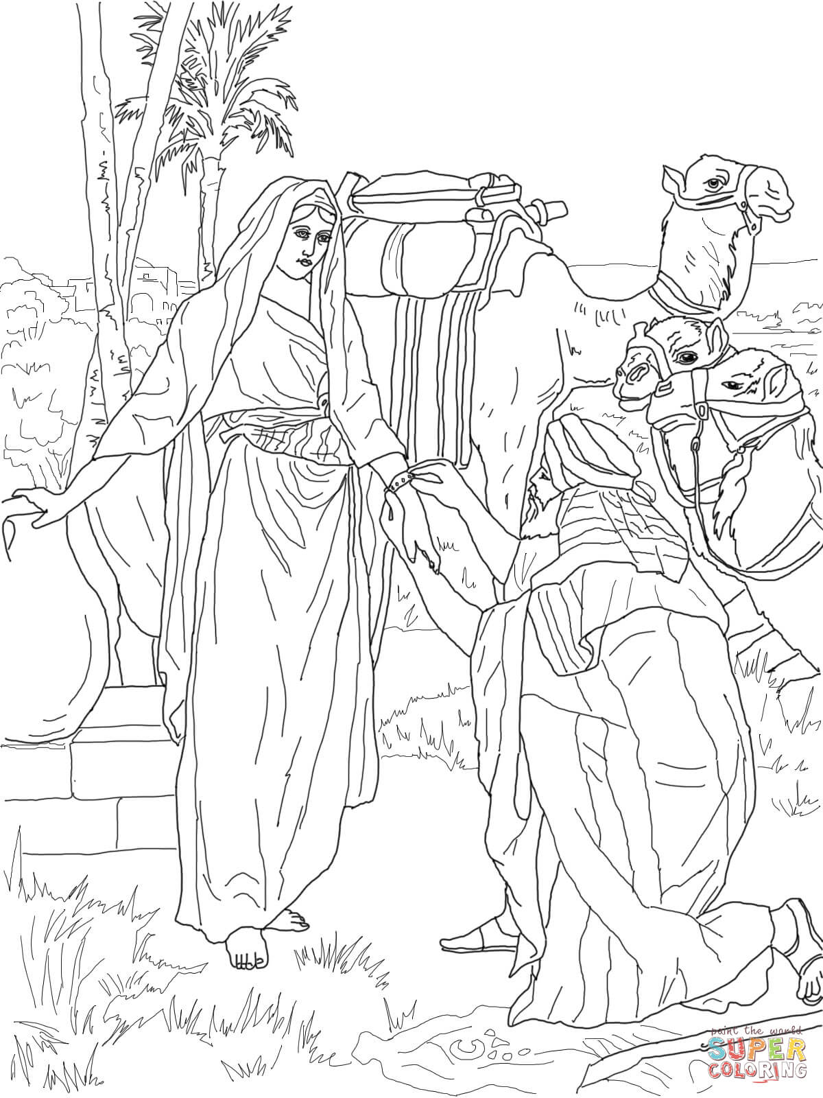 Moses And Zipporah Coloring Page