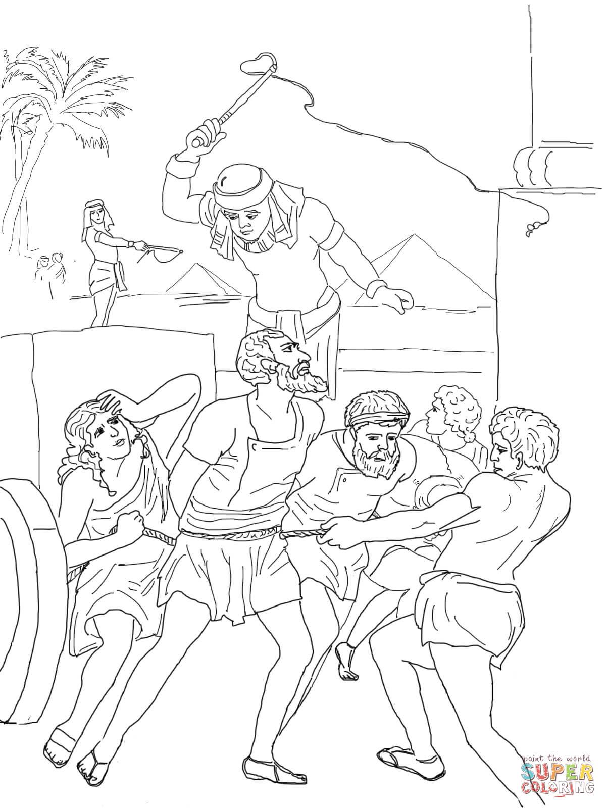 Desenho De Escravidao Egipcia Dos Israelitas Para Colorir