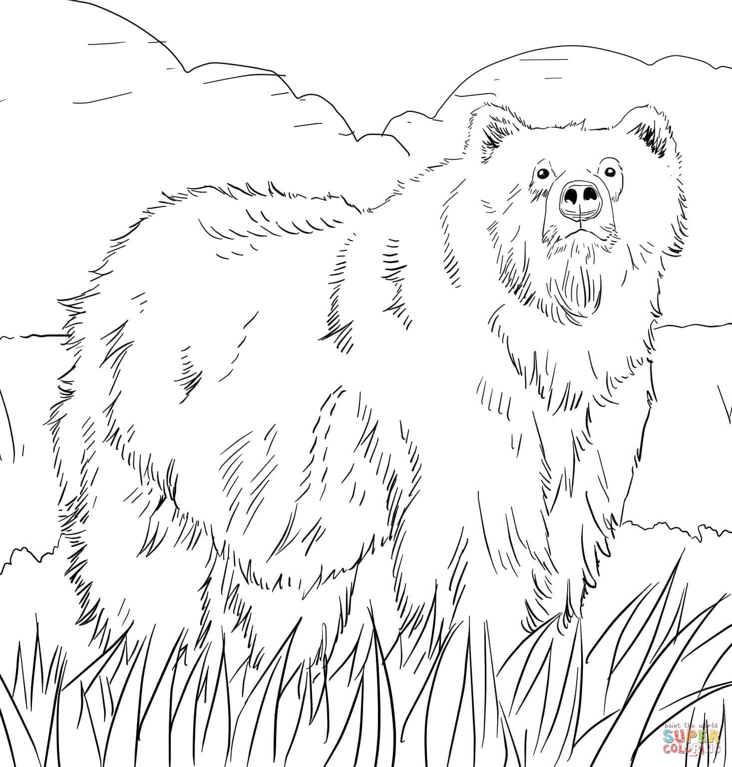 37ec52c Free Bear Coloring Pages