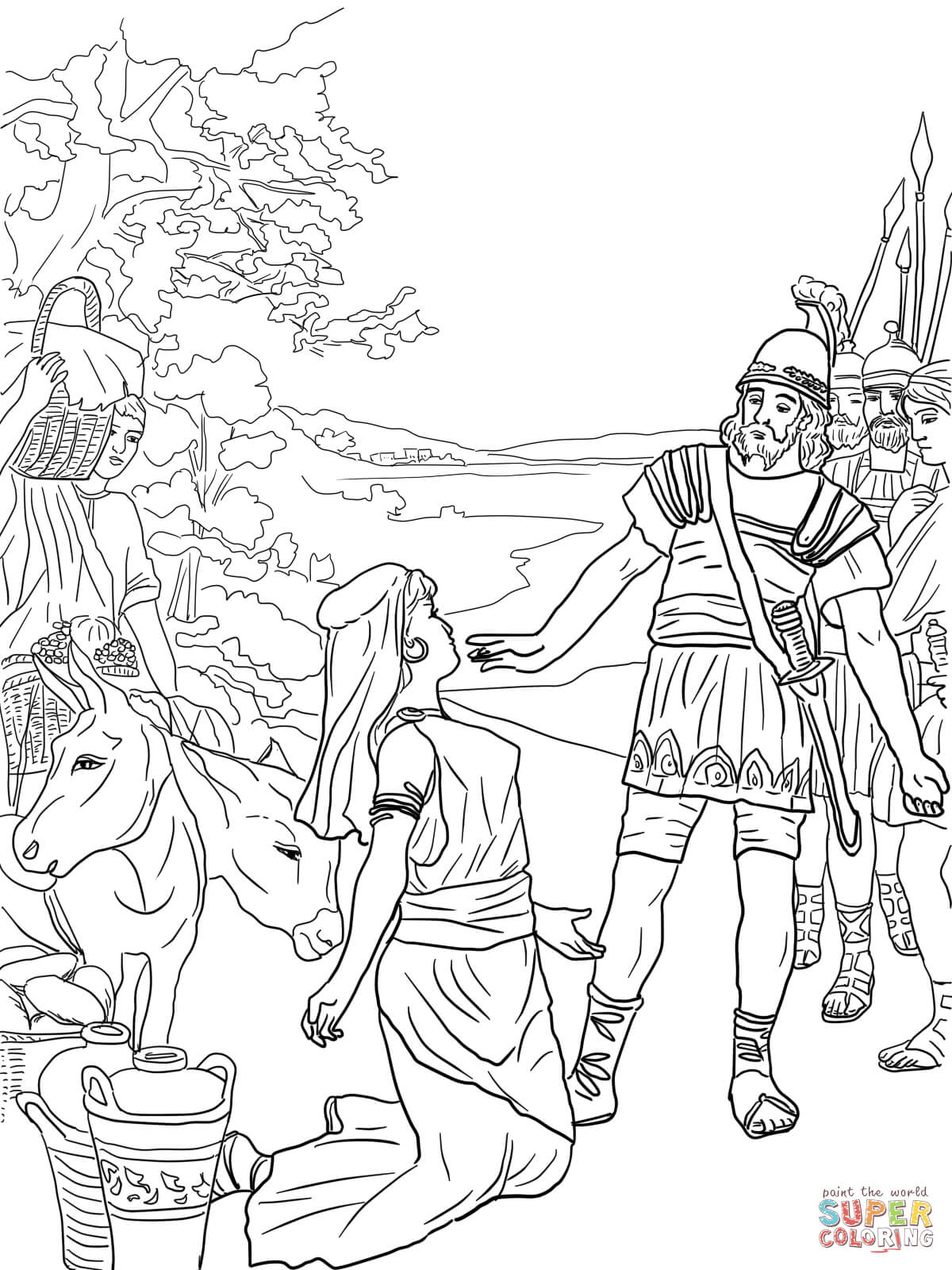 David And Abigail Coloring Page