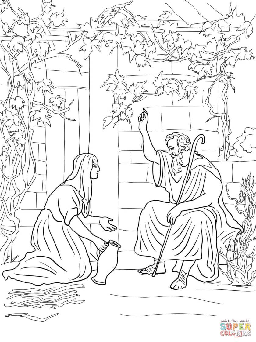 elijah and the widow of zarephath coloring page  free