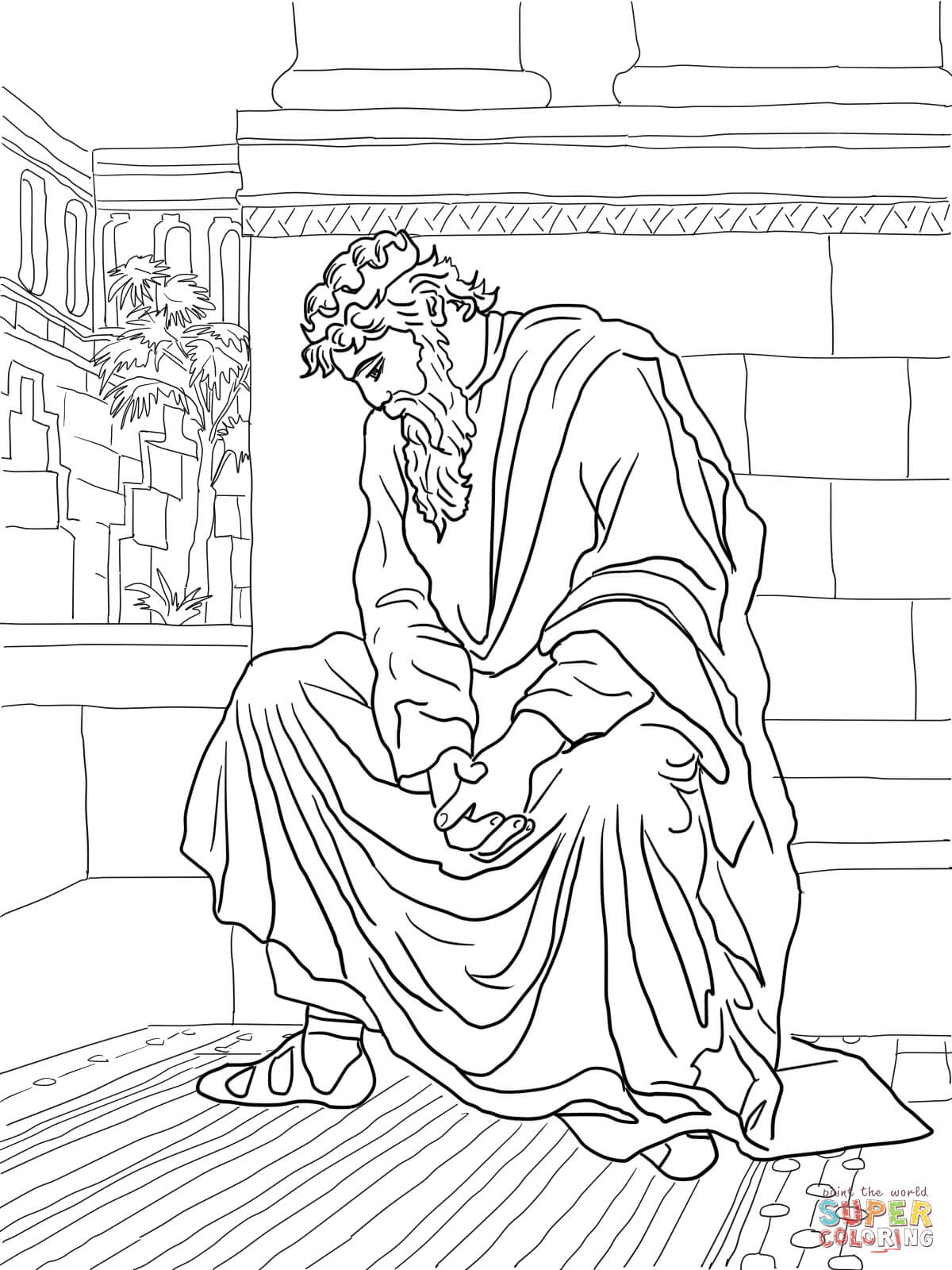 David Weeping Over The Of Absalom Coloring Page