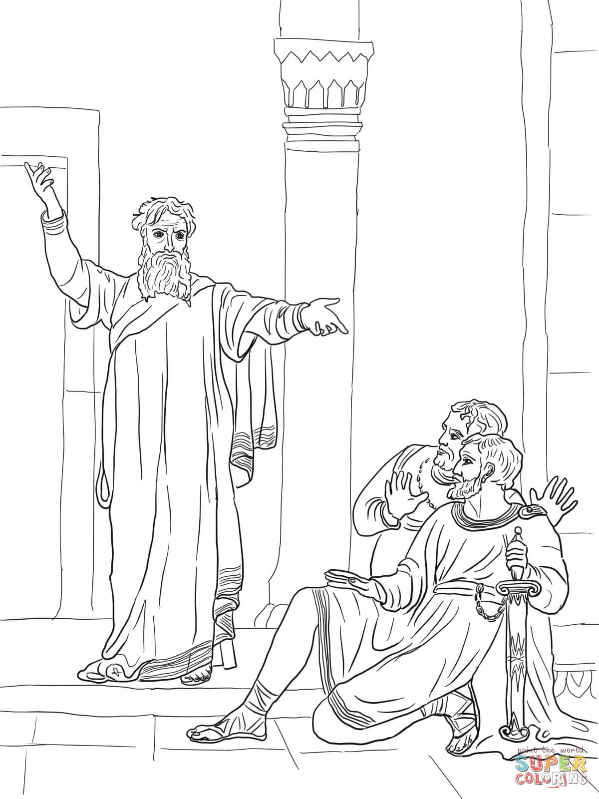 Jeremiah Warns The People Coloring Page