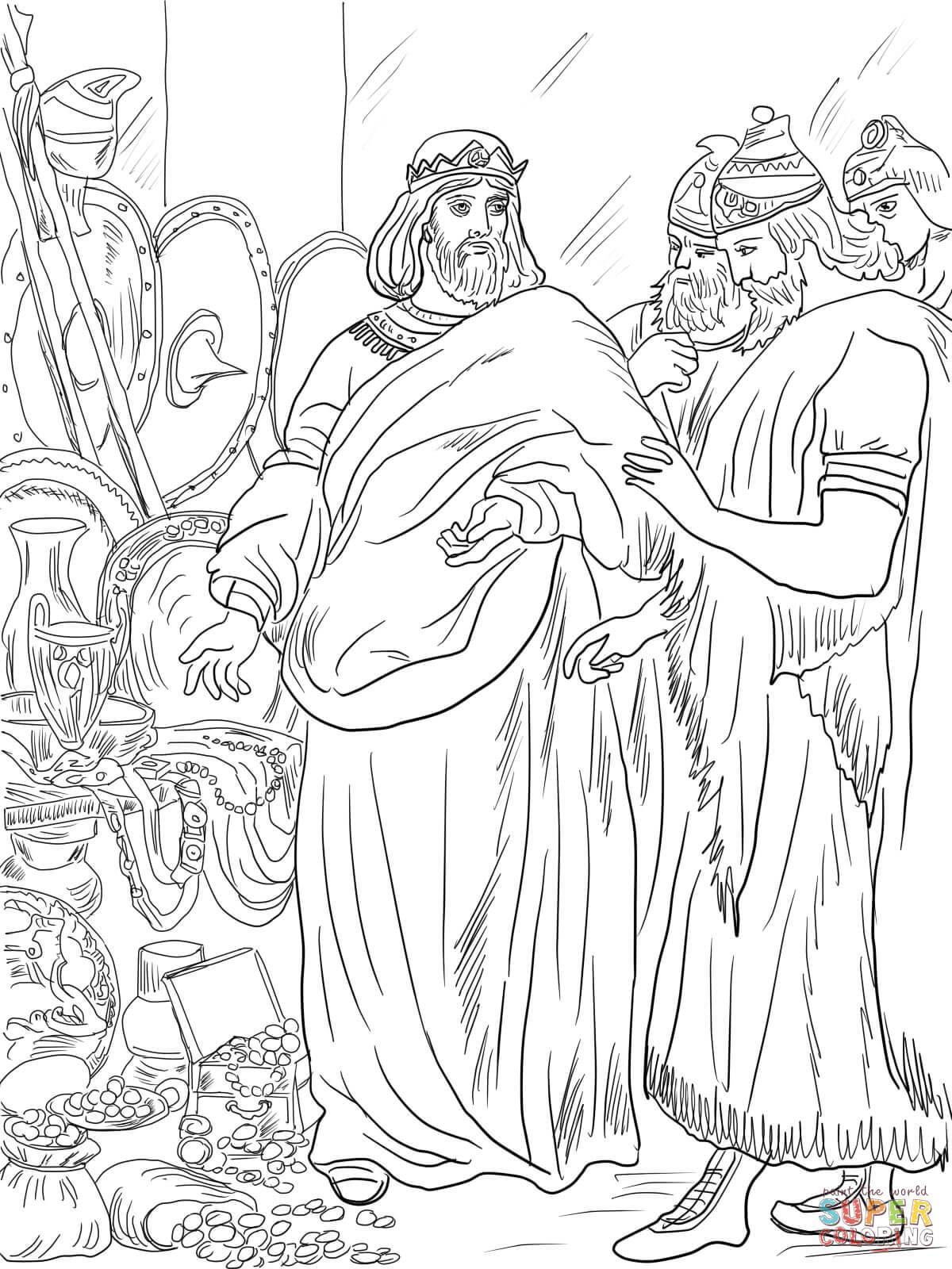 Biblical Hezekiah Sheets Coloring Pages