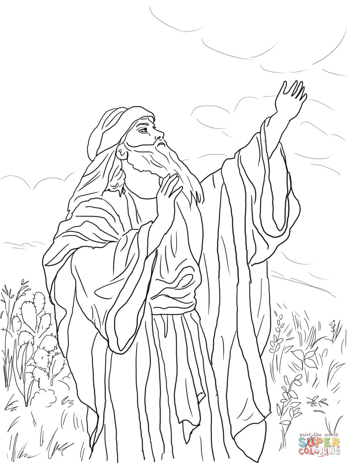 Prophet Isaiah Coloring Page