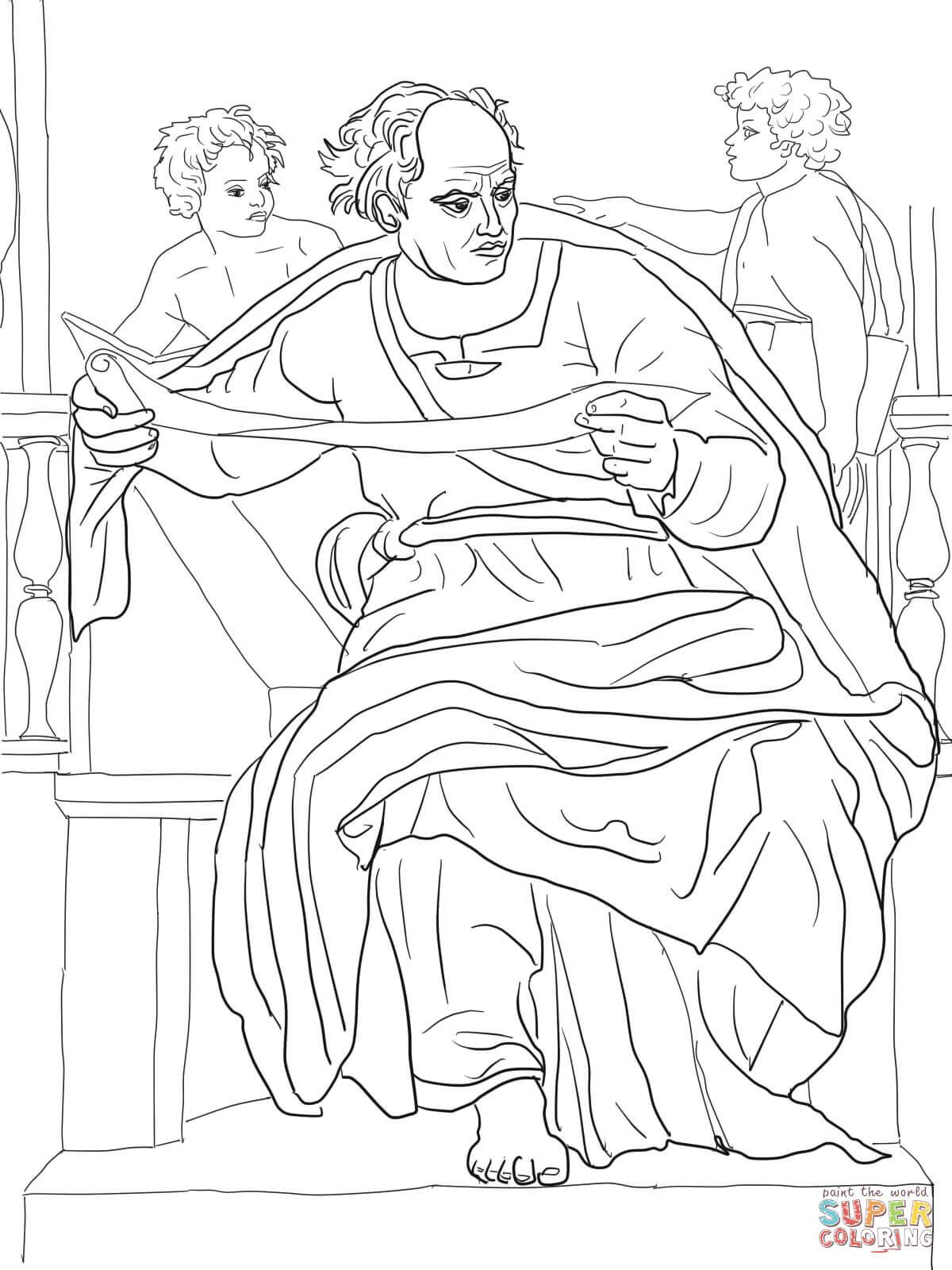 Prophet Joel Coloring Page