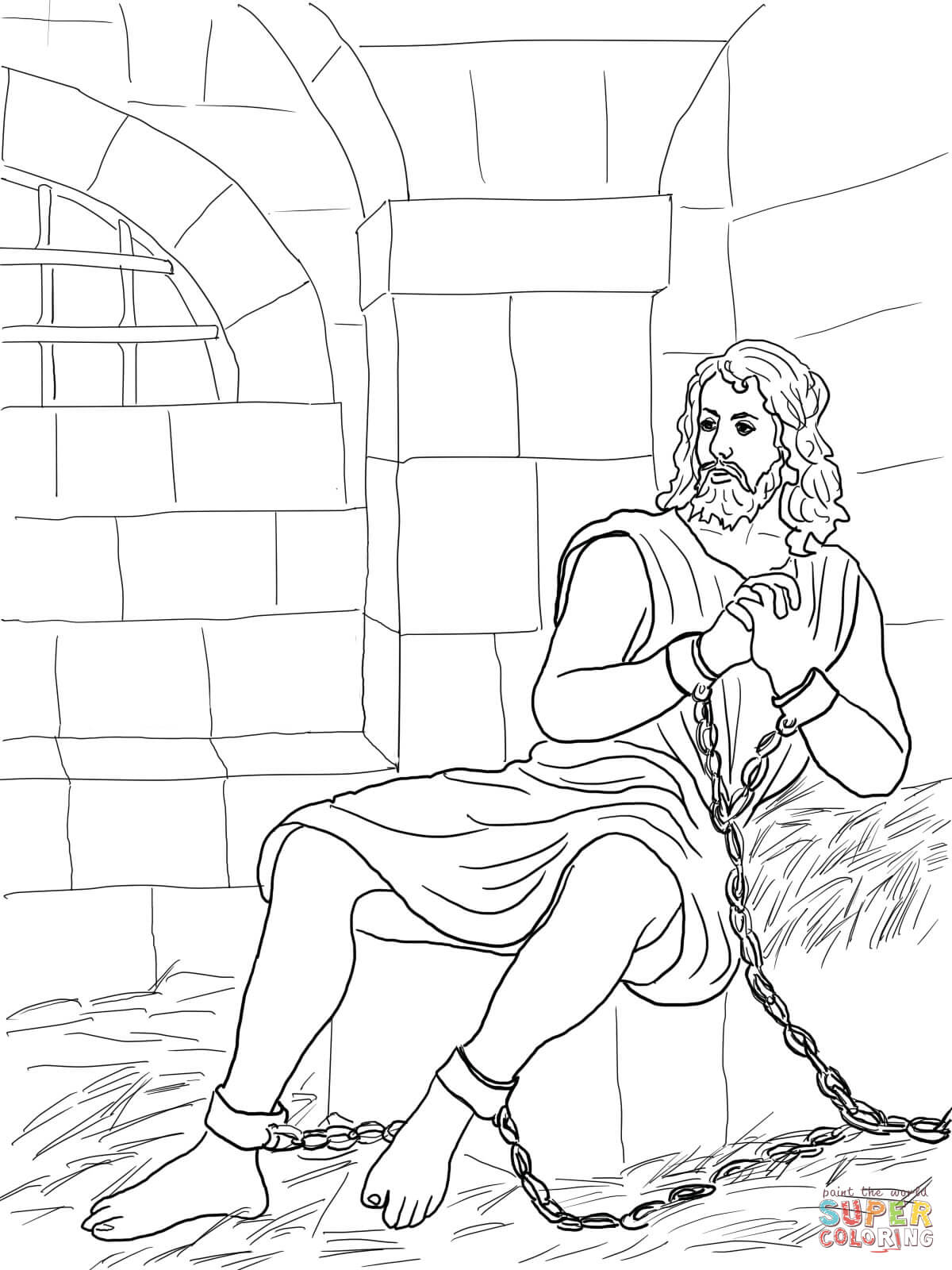 John The Baptist In Prison Coloring Page