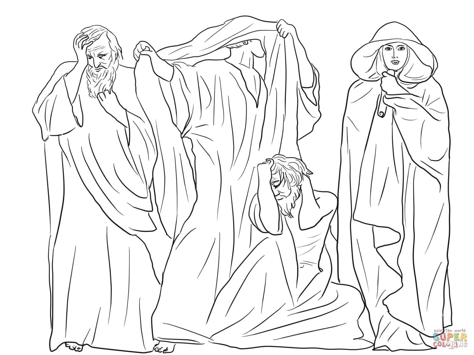 Zephaniah Joel Obadiah And Hosea Coloring Page