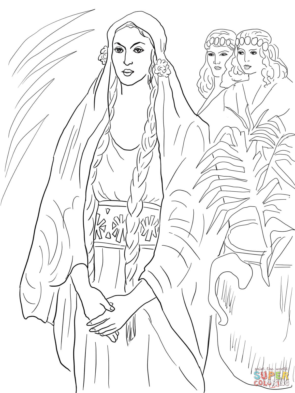 Esther The Queen Coloring Page