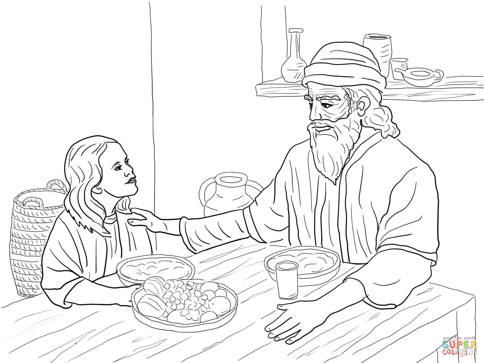 Esther And Mordecai Coloring Page Free Printable Coloring Pages