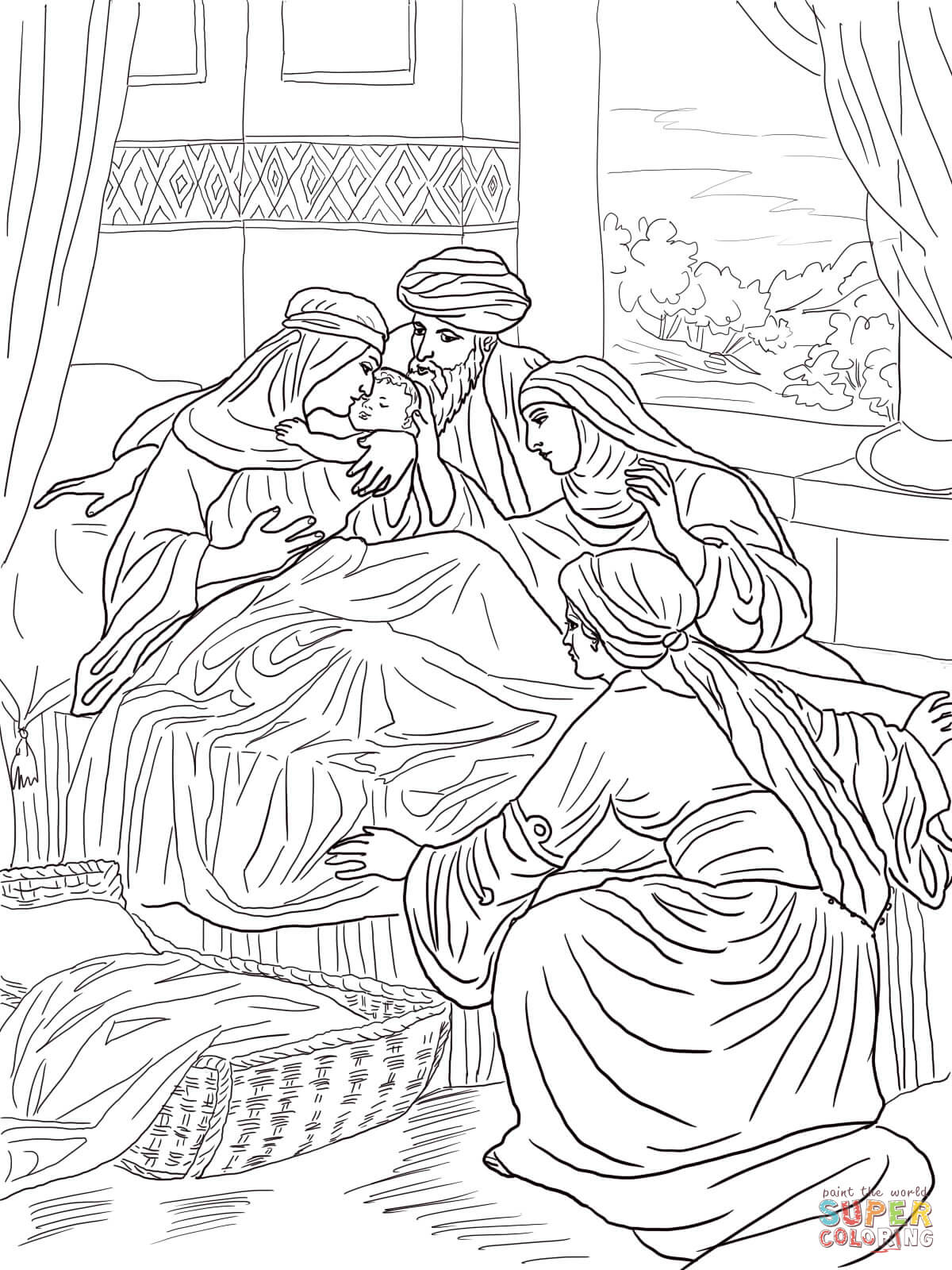 Coloring Pages John The Baptist Coloring Page