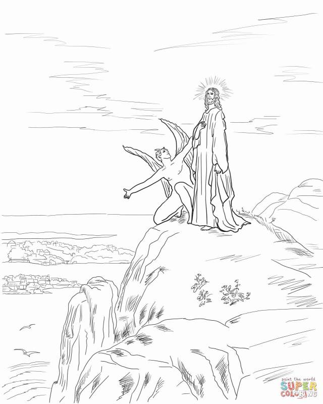 Jesus Temptation coloring page  Free Printable Coloring Pages