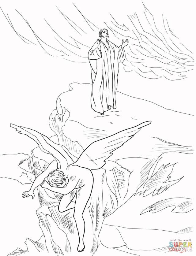 Jesus Rejects Temptation coloring page  Free Printable Coloring Pages