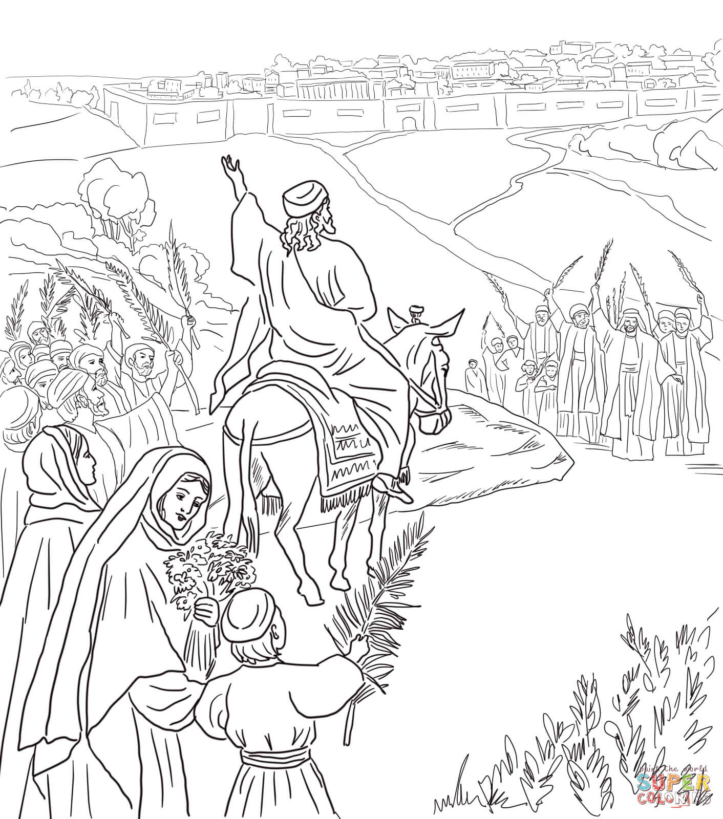 Palm Sunday Coloring Pages Free Coloring Pages