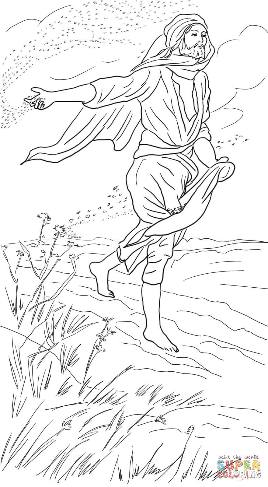Parable Of The Sower Coloring Page Free Coloring Pages Download ...