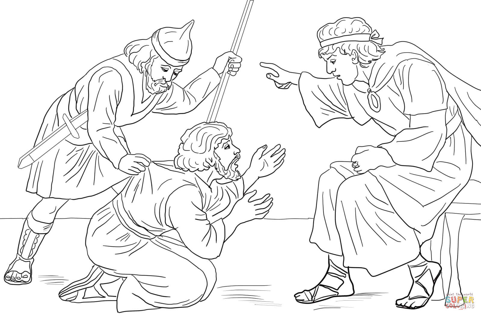 Unforgiving Servant Parable Coloring Page
