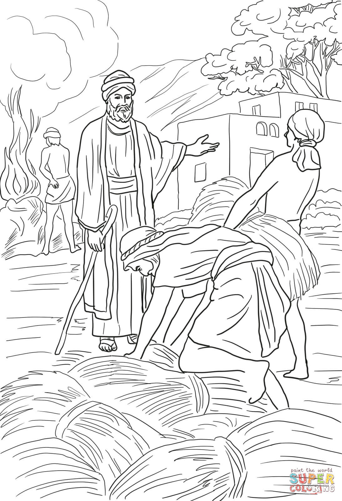 Parable Of The Wheat And Weeds Coloring Page