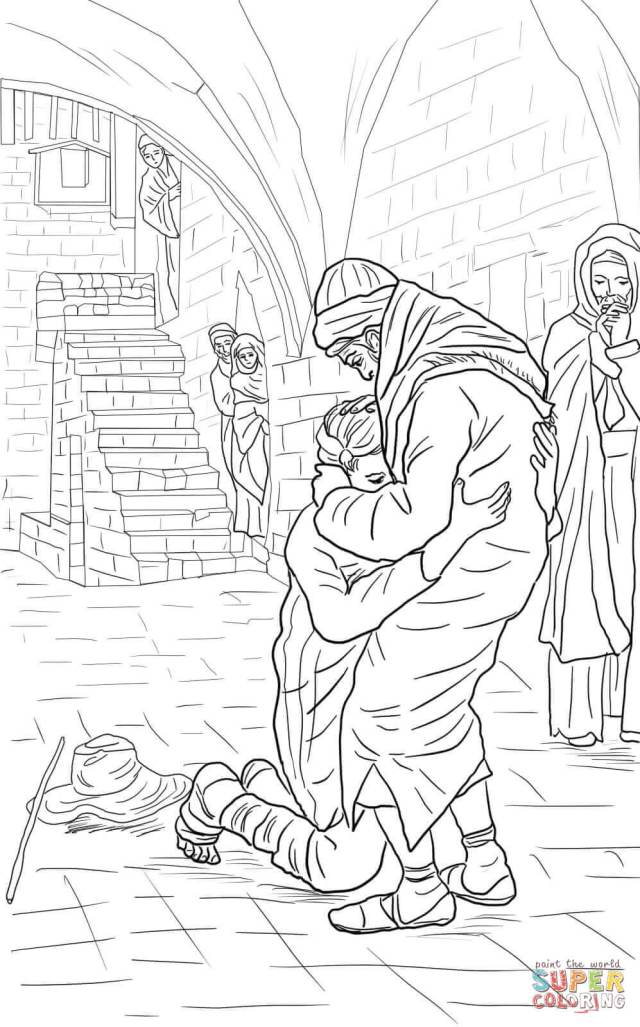 The Return of the Prodigal Son coloring page  Free Printable