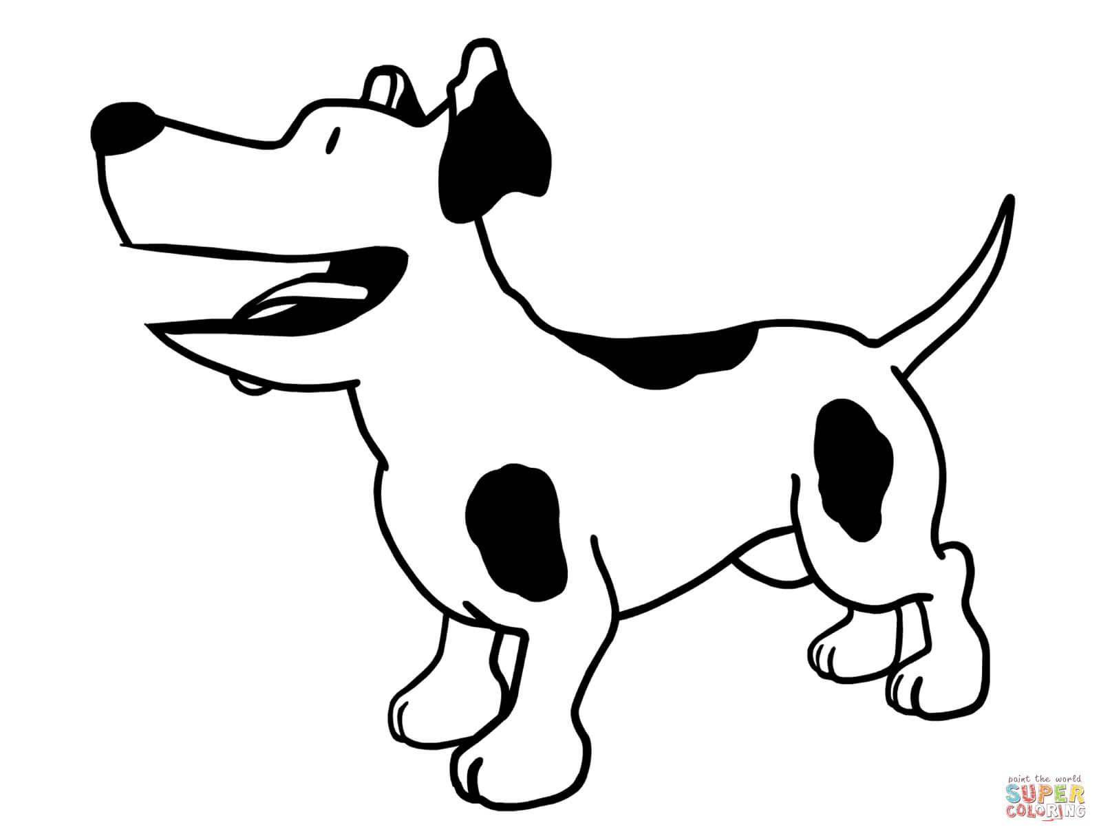 Dibujo De Perry El Perro De Olivia Para Colorear