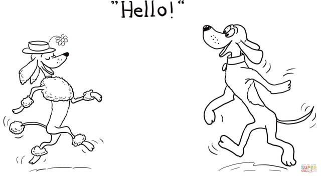 Dog Says Hello! coloring page  Free Printable Coloring Pages