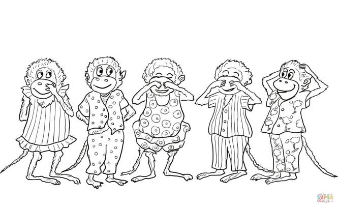 five little monkeys coloring page   Coloring Page for kids