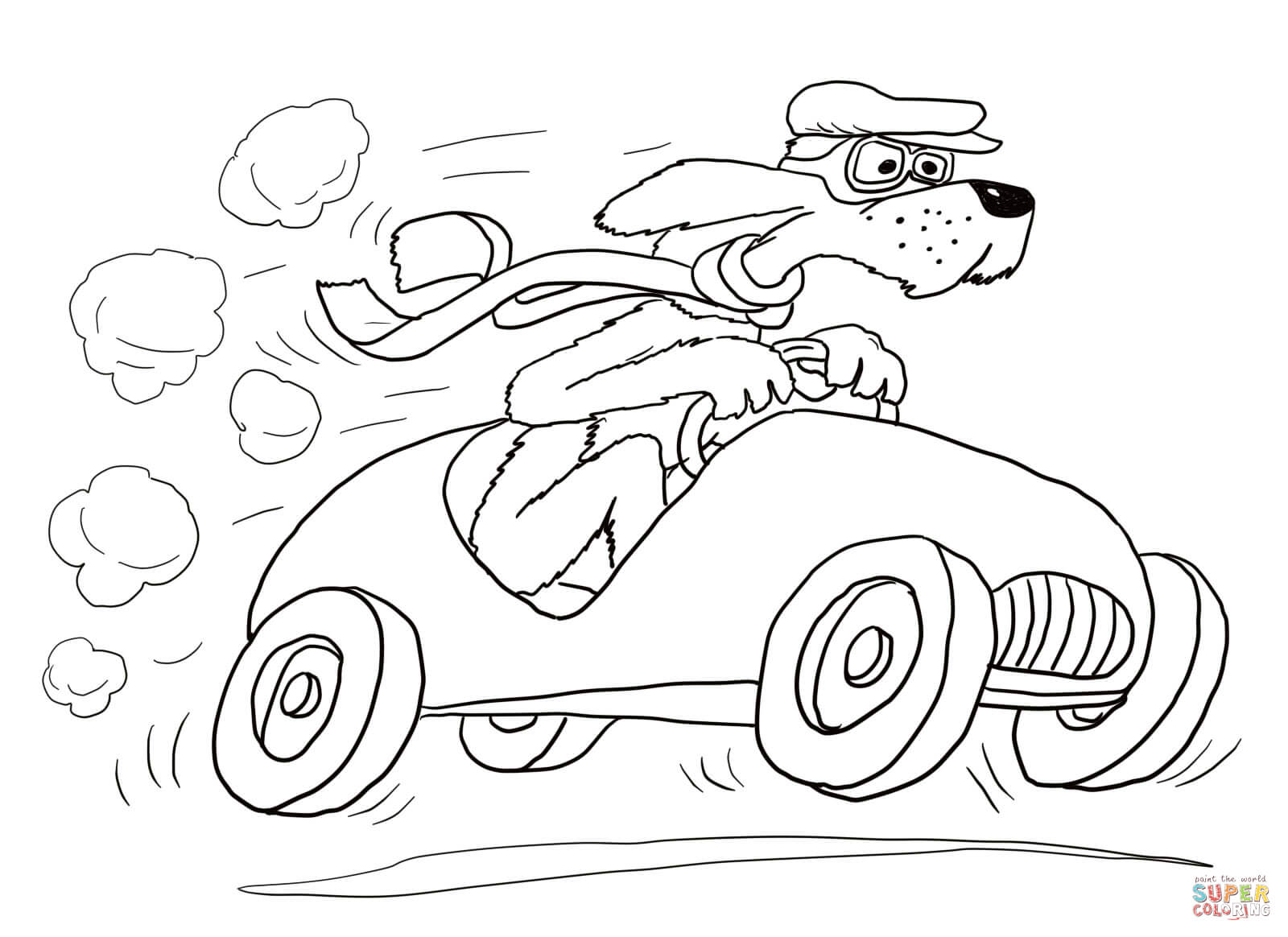 Go Dog Go Coloring Page
