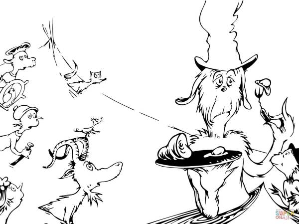 green eggs and ham coloring page # 3